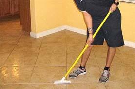 طرق لتنظيف الارضيات